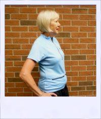 Banksia short sleeve jersey - Blue - side