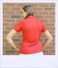 Banksia short sleeve jersey - Red - rear