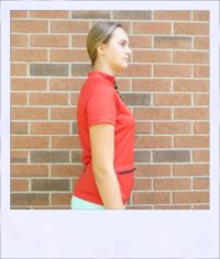 Banksia short sleeve jersey - Red - side