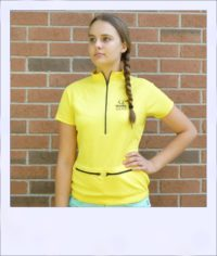 Banksia short sleeve jersey - Yellow - front