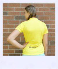 Banksia short sleeve jersey - Yellow - rear