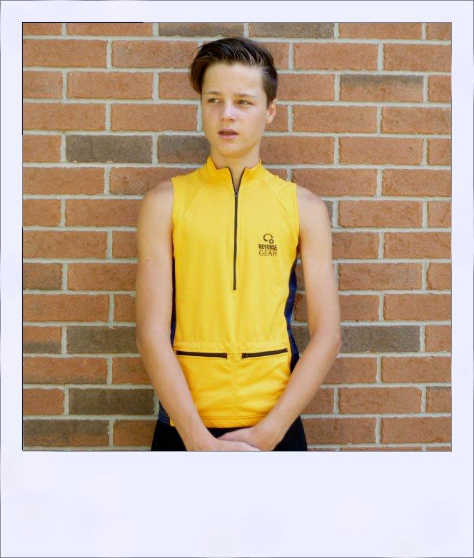 Belah sleeveless jersey - Gold - front