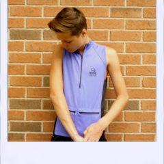 Belah sleeveless jersey - Purple - front