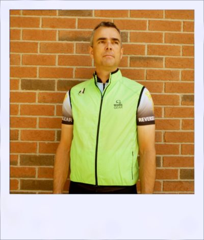 Breeze sleeveless cycle vest - Green male - front