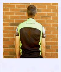 Breeze sleeveless cycle vest - Green male - rear