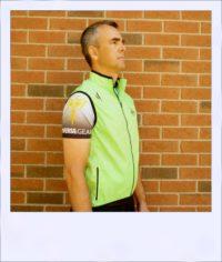 Breeze sleeveless cycle vest - Green male - side