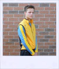 Breeze sleeveless recumbent cycle vest - Yellow male - front