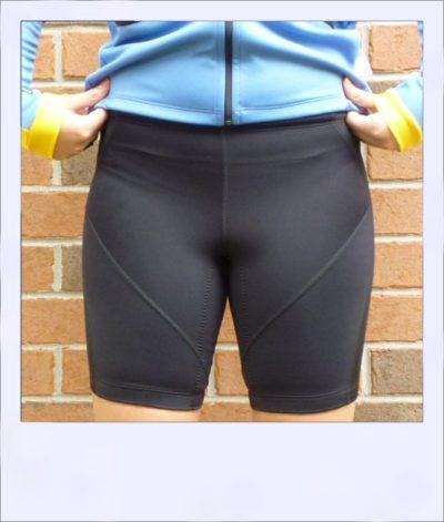 Corkwood women's recumbent cycling shorts Black - front alt