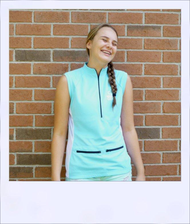 Sassafras sleeveless jersey - Turquoise Blue - front