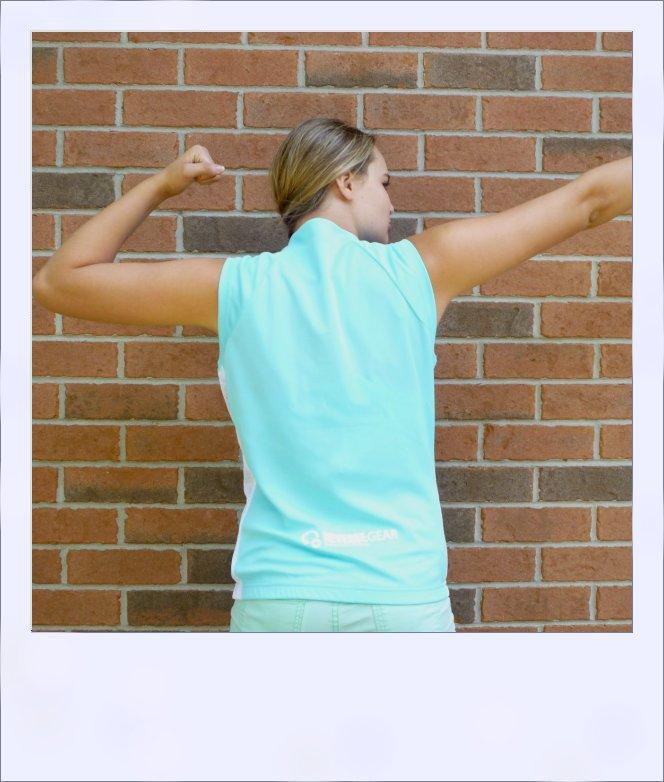 Sassafras sleeveless jersey - Turquoise Blue - rear