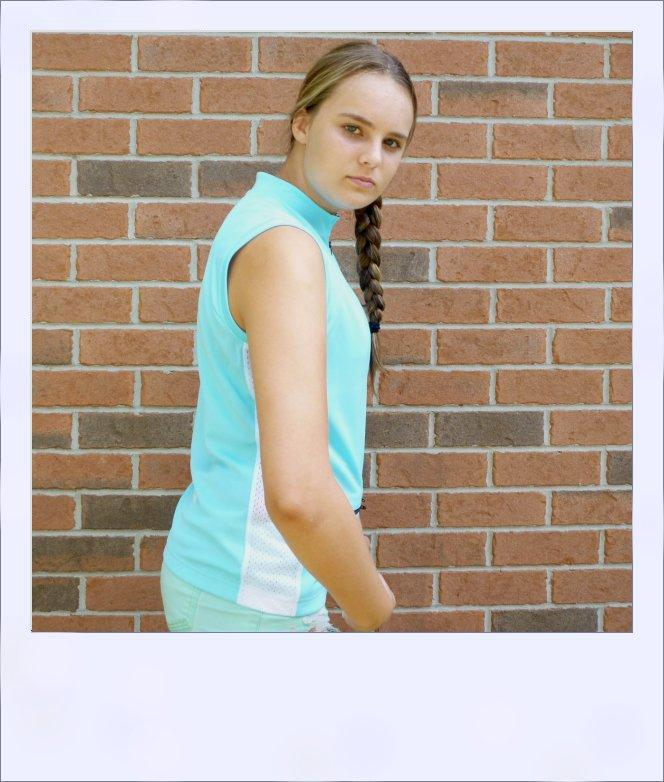 Sassafras sleeveless jersey - Turquoise Blue - side
