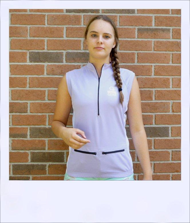 Sassafras sleeveless jersey - Violet - front