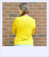 Wilga long sleeve jersey - Amber - rear