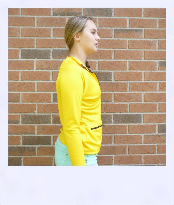 Wilga long sleeve jersey - Amber - side