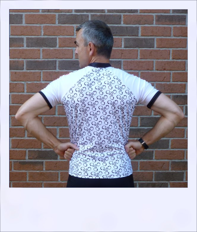 Reverse Gear recumbent cycling jersey - men rear