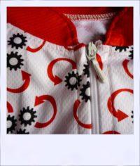 Reverse Gear short sleeve recumbent jersey - women - collar