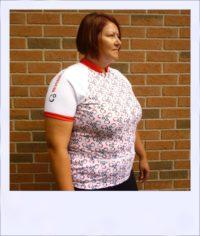 Reverse Gear short sleeve recumbent jersey - women - side