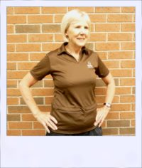 Cafe Ole short sleeve recumbent cycle jersey - Espresso - women - front