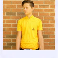Boab Gold - short sleeve cycle jersey - front