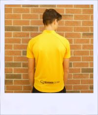 Boab Gold - short sleeve cycle jersey - rear