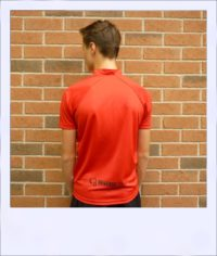 Boab Red - short sleeve cycle jersey - rear