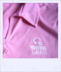 Citrus Market short sleeve cycle jersey - Pink Grapefruit - women - logo close-up