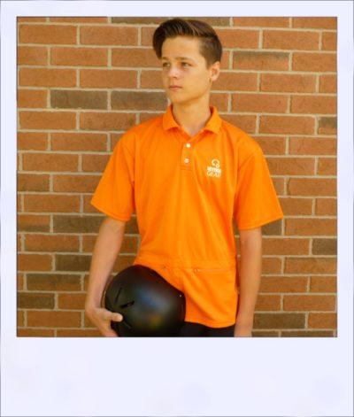 Citrus Market short sleeve cycle jersey - Tangerine - men - front
