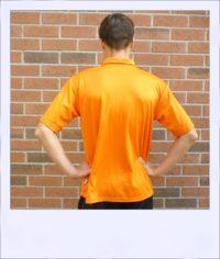 Citrus Market short sleeve cycle jersey - Tangerine - men - rear