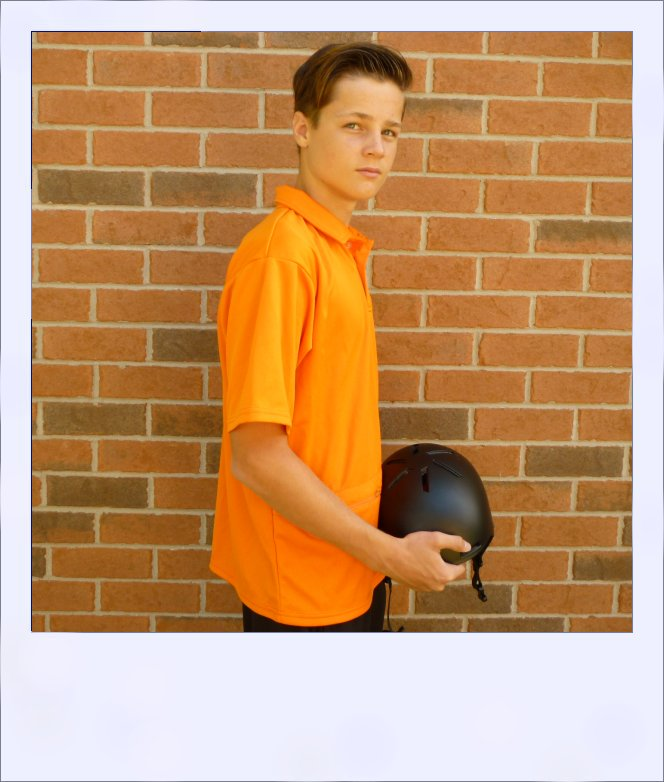 Citrus Market short sleeve cycle jersey - Tangerine - men - side