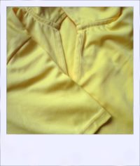 Citrus Market short sleeve cycle jersey - Lemon - women - collar close-up
