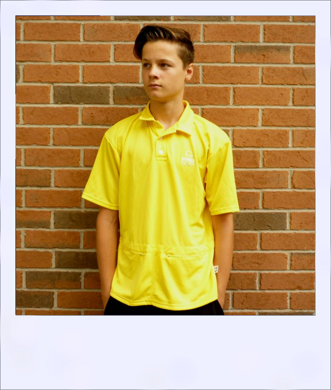 Citrus Market short sleeve cycle jersey - Lemon - men - front