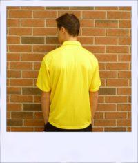 Citrus Market short sleeve cycle jersey - Lemon - men - rear