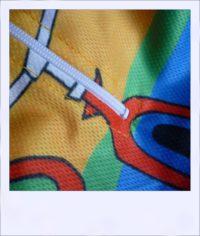 Jazzed recumbent cycling jersey - close-up