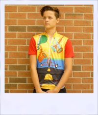 Jazzed short sleeve cycle jersey - front alt
