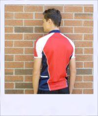 Chevron Mesh short sleeve cycle jersey - rear