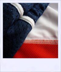 Chevron Mesh short sleeve recumbent cycle jersey - sides
