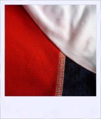 Chevron Mesh short sleeve recumbent cycle jersey - stitching