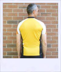 Chevron short sleeve cycle jersey - Orange - rear
