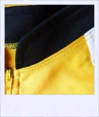 Chevron Orange short sleeve recumbent men's jersey - zip close-up