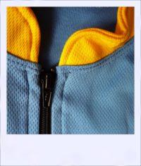 Phoenix long sleeve recumbent cycle jersey - collar close-up
