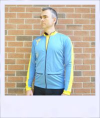 Phoenix long sleeve recumbent cycle jersey - male - front