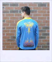 Phoenix long sleeve recumbent jersey - rear