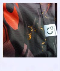 Phoenix short sleeve recumbent cycle jersey - label