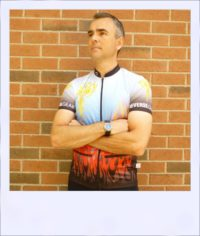 Phoenix short sleeve recumbent cycle jersey - front