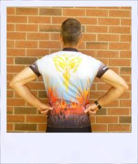 Phoenix short sleeve recumbent cycle jersey - rear