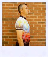 Phoenix short sleeve recumbent cycle jersey - side