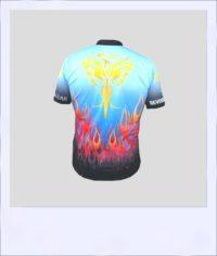 Phoenix short sleeve cycle jersey - design rear