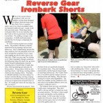 Reverse Gear shorts review in Recumbent and Tandem Rider magazine - image