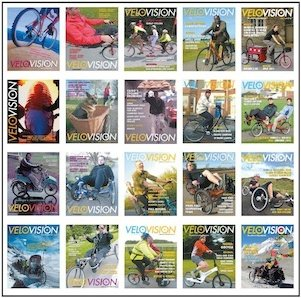 Velo Vision magazine - lots of covers
