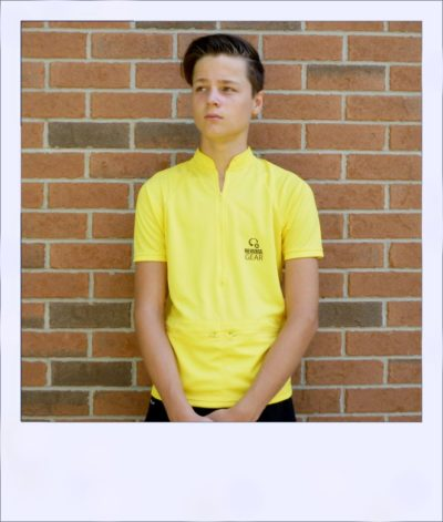 Boab Yellow - short sleeve cycle jersey - front